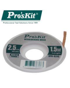 8PK-031C Pro'sKit Оплетка медная для выпайки (2.5мм х 1.5м)
