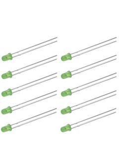 NLED3G Набор зеленых светодиодов 3мм (10шт)