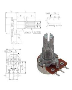 WH120-1 KC 100 кОм Резистор переменный