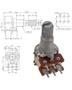 WH120-2 KC 100 кОм Резистор переменный
