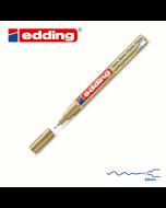 EDDING 780 Маркер стекло, металл, пластик d=0,8мм (золотой)
